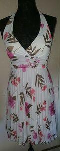 Speechless Pleated skirt Floral Print Halter Dress